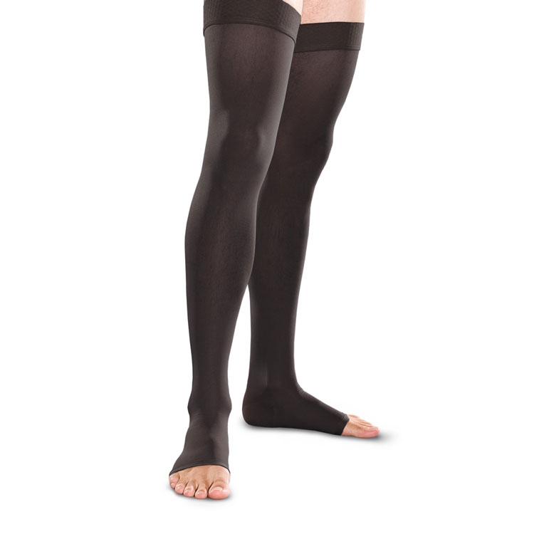 Open-Toe Thigh-High Stockings (band-top)